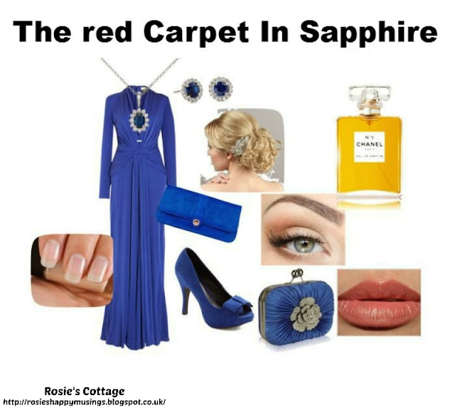 Release your inner designer with Polyvore - The Red Carpet in Sapphire by Rosies Cottage