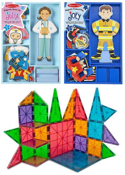 Melissa and Doug Magnetic Dolls and Magnatiles