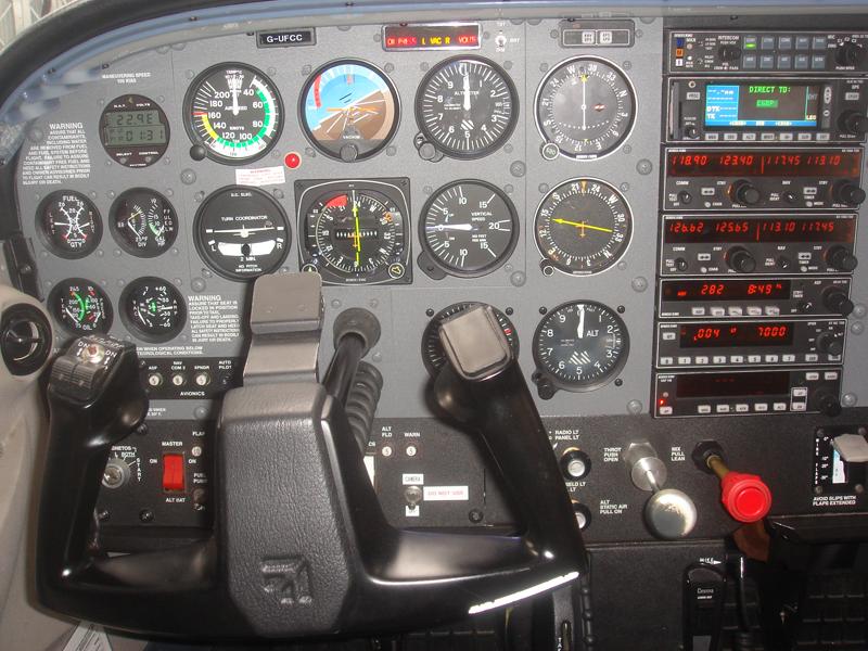 Jet Airlines: Cessna 172 Cockpit