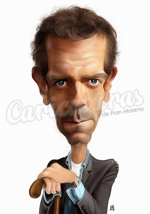 """Hugh Laurie - Doctor House"" por Fran Moreno"