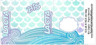 Sirenas: Etiquetas para Candy Bar para Imprimir Gratis.