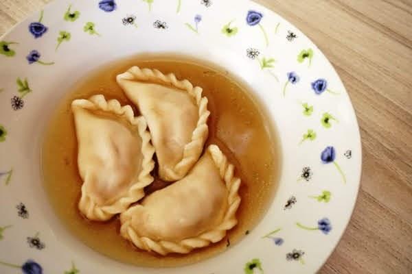 kołduny bardzo proste z mięsem z indyka z rosołu