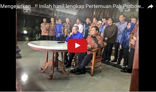 Ini Pernyataan Lengkap Prabowo Usai Bertemu SBY di Cikeas, Sindir Habis Jokowi