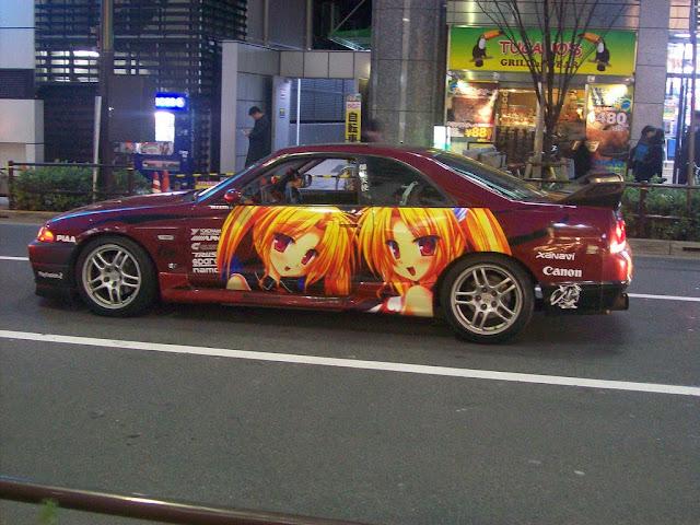 Zdjęcia auta w tematyce anime