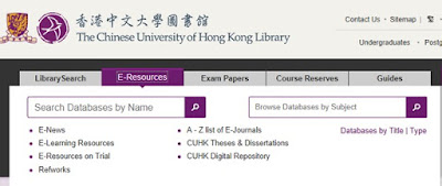 http://www.lib.cuhk.edu.hk/#e-resource-tab