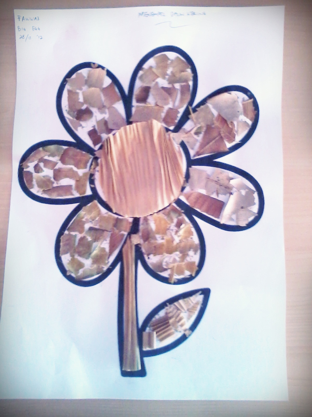 Gambar Mozaik Bunga Kata Kata