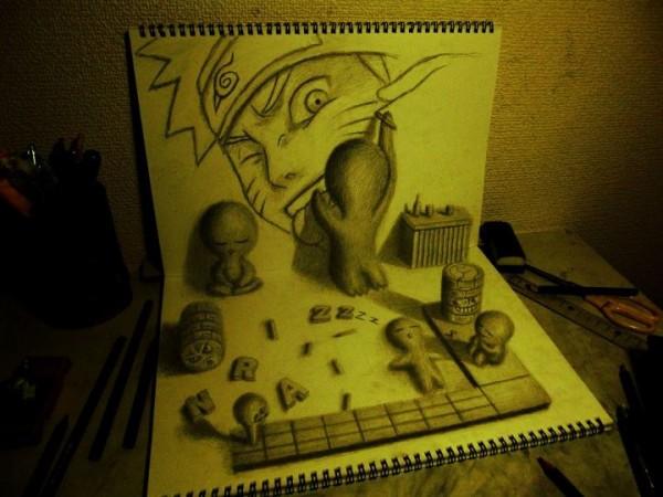 Gambar Sketsa 3 Dimensi Yang Kreatif Keren dan Juga Menakjubkan-2