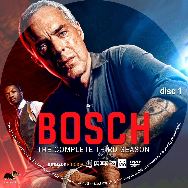 Bosch Season 3 Disc 1-3 DVD Label