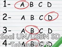 Soal Siap UN/USBN SD Tahun 2018 dengan Kunci Jawaban