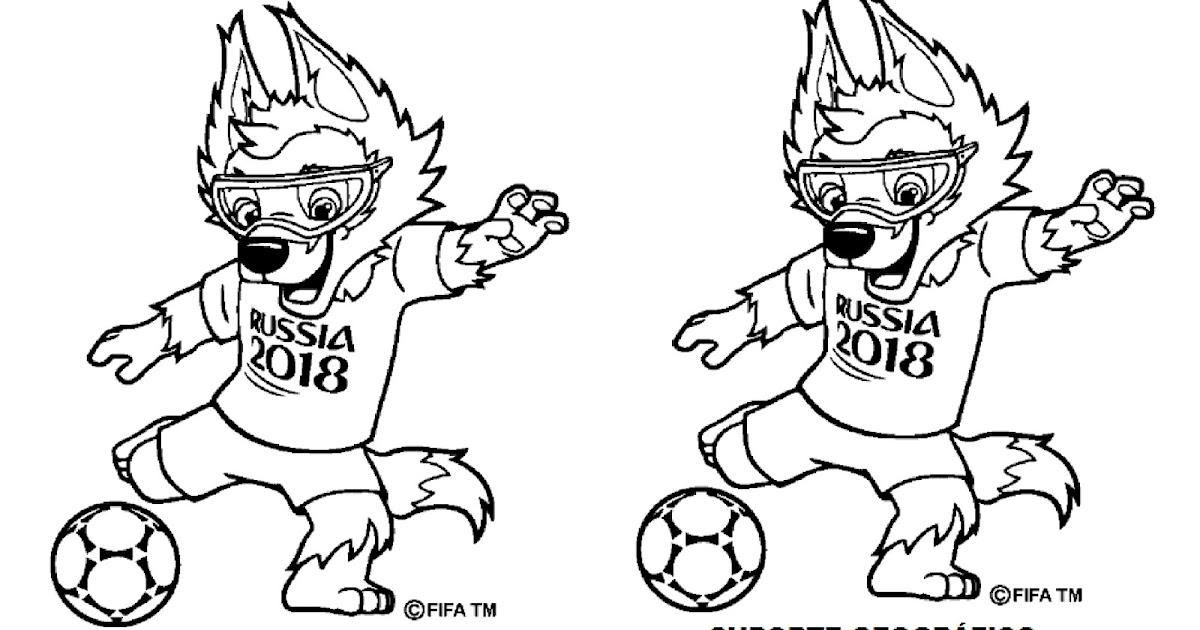 Mascote Da Copa Do Mundo De 2018 Para Colorir Suporte Geografico