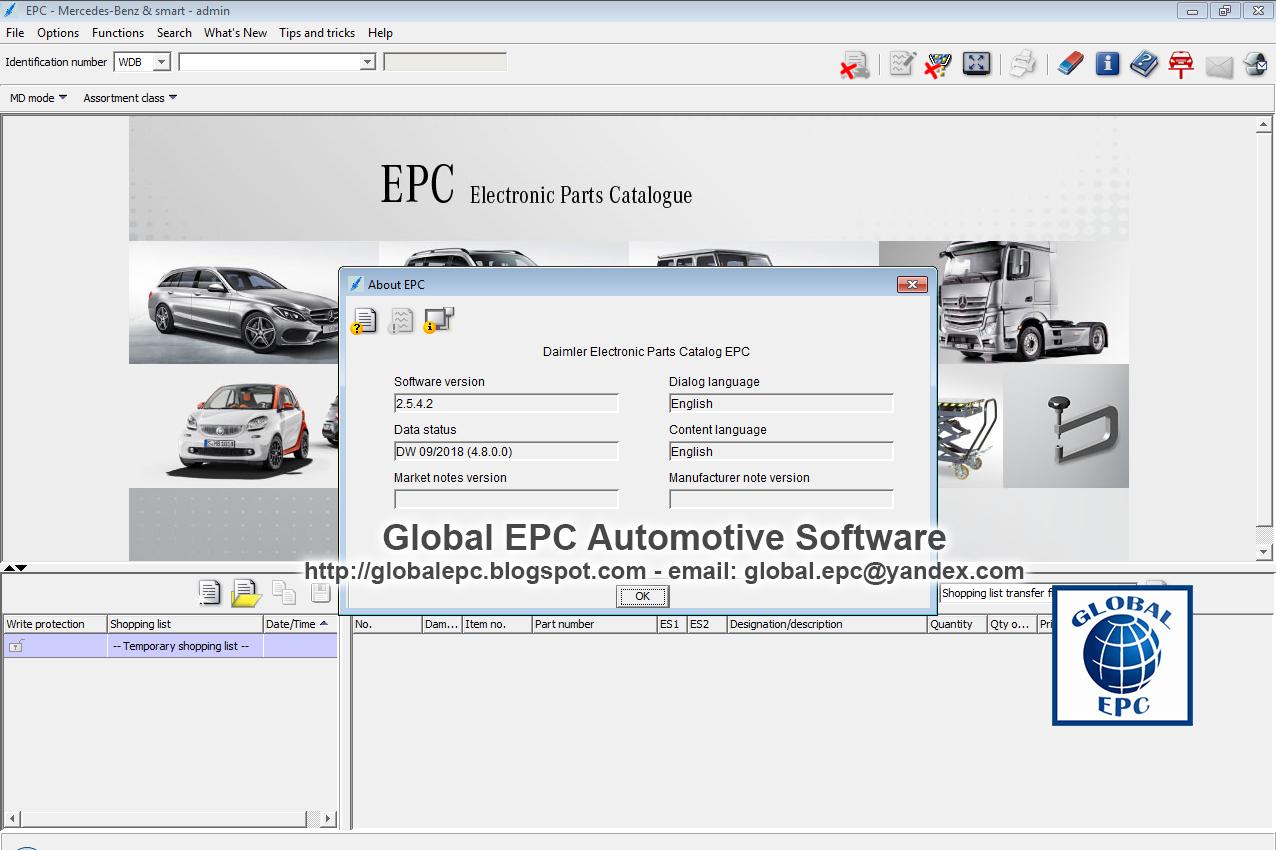 GLOBAL EPC AUTOMOTIVE SOFTWARE: MERCEDES BENZ SMART EWAnet