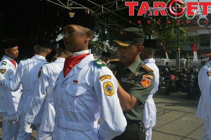 Dandim 0718 Pati Letkol Arm Arief Darmawan S.Sos Pantau Kesiapan Pasukan Paskibraka