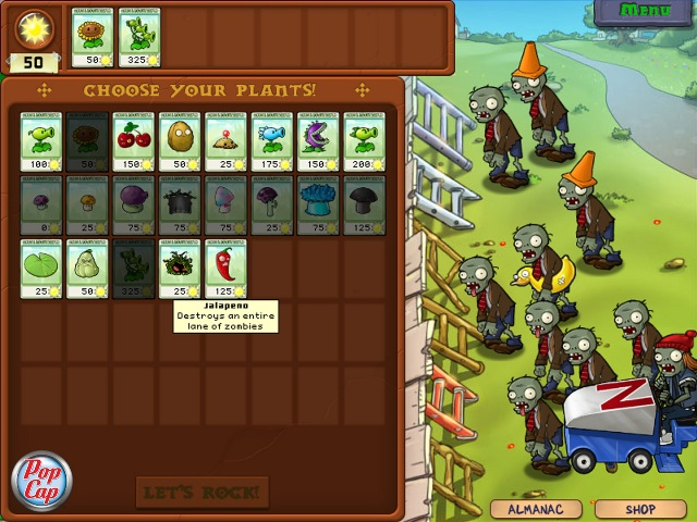 Plants vs Zombies 1 PC Games Gameplay