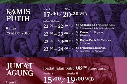 Jadwal Rangkaian Paskah di Gereja St. Albertus Agung Harapan Indah