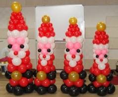Balon dekorasi bentuk santa claus