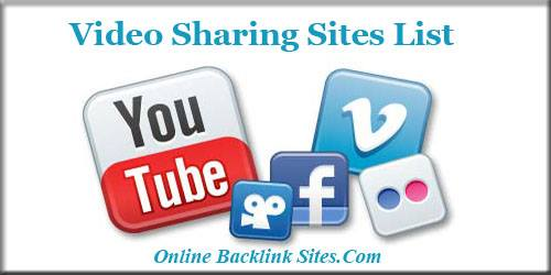Video Sharing Sites List With High Page Rank