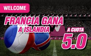 wanabet supercuota 5 Francia gana Islandia Euro2016 + 150 euros codigo JRVM 3 julio