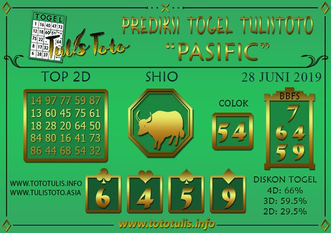 Prediksi Togel PASIFIC TULISTOTO 28 JUNI 2019