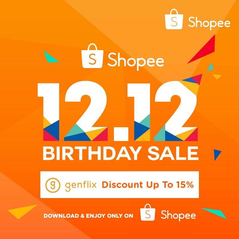 Genflix - Promo Voucher Diskon 15% di Shopee (HARI INI)