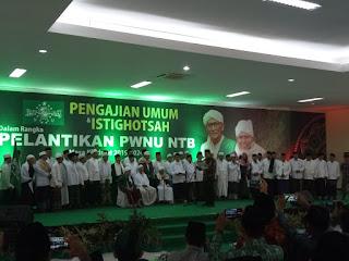 Prof. Masnun Tahir Resmi Dilantik Menjadi Ketua PW NU NTB
