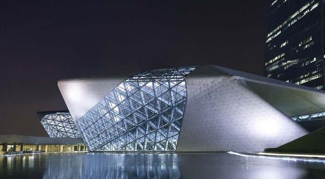 salah satu bangunan dengan arsitektur terbaik guangzhou opera house paling menakjubkan dan wajib dikunjungi saat ke china
