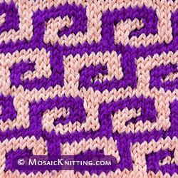 Fretwork stitch pattern is created using a simple slip-stitch technique. Looks very impressive