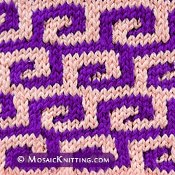 Fretwork - stockinette stitch