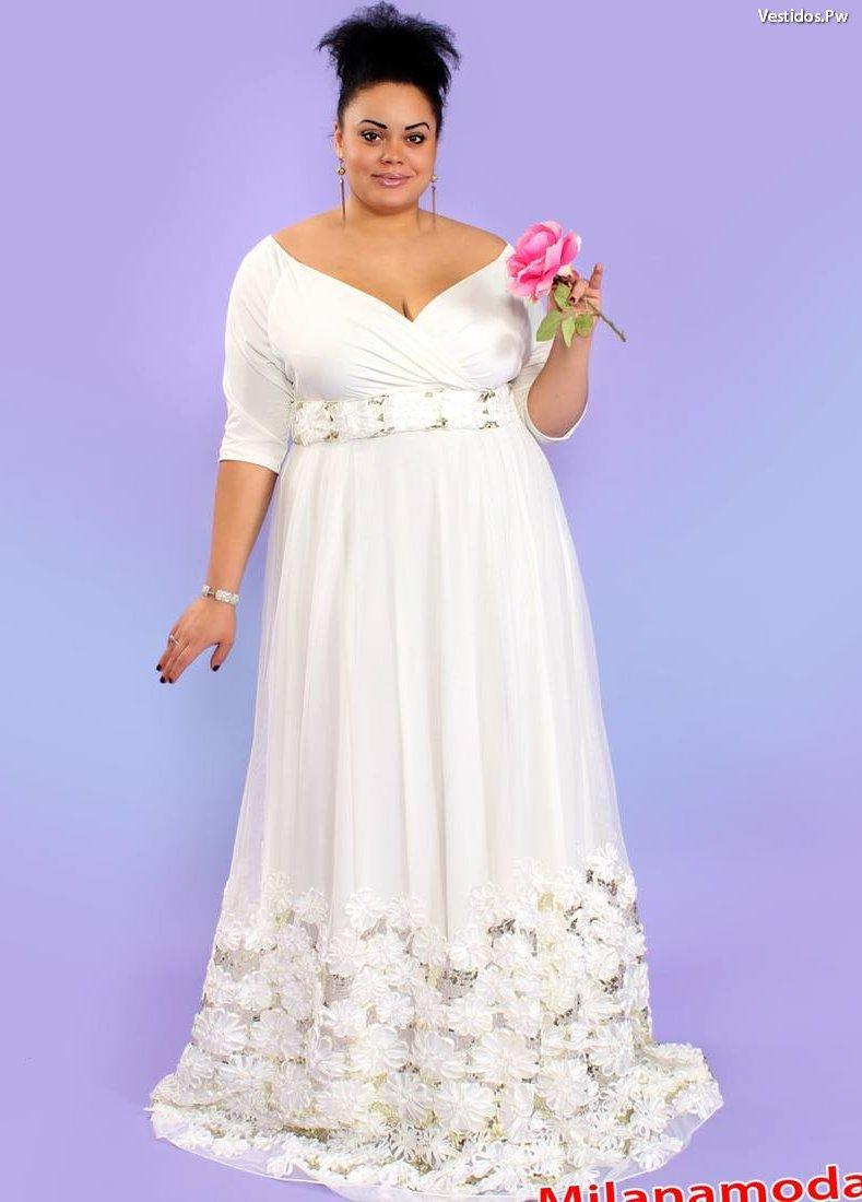 Vestidos de novia bodas de plata para gorditas