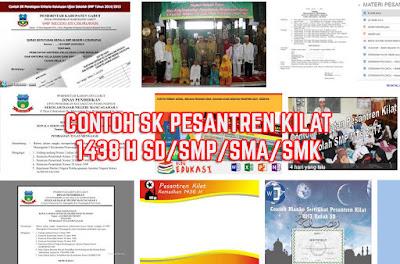 Contoh SK Pesantren Kilat Ramadhan 1438 H SD SMP SMA SMK