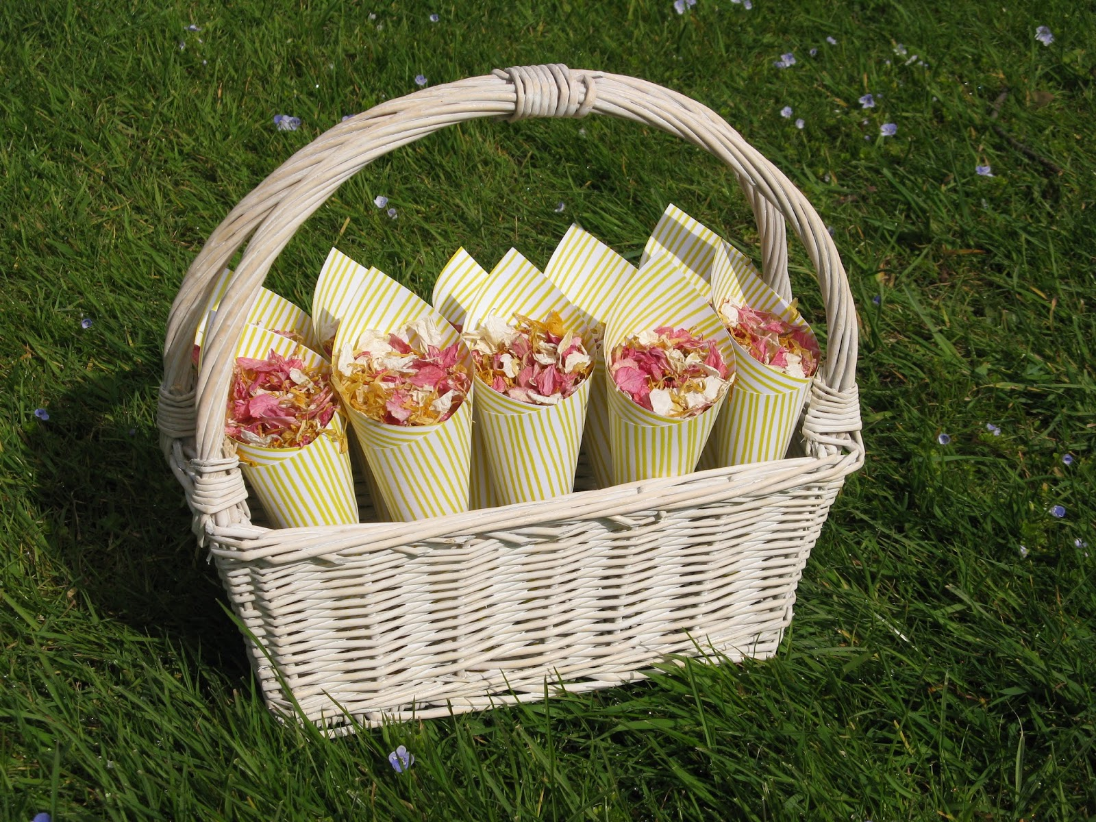Wedding Baskets For Flower Petals : The confetti super summery sunshine wedding