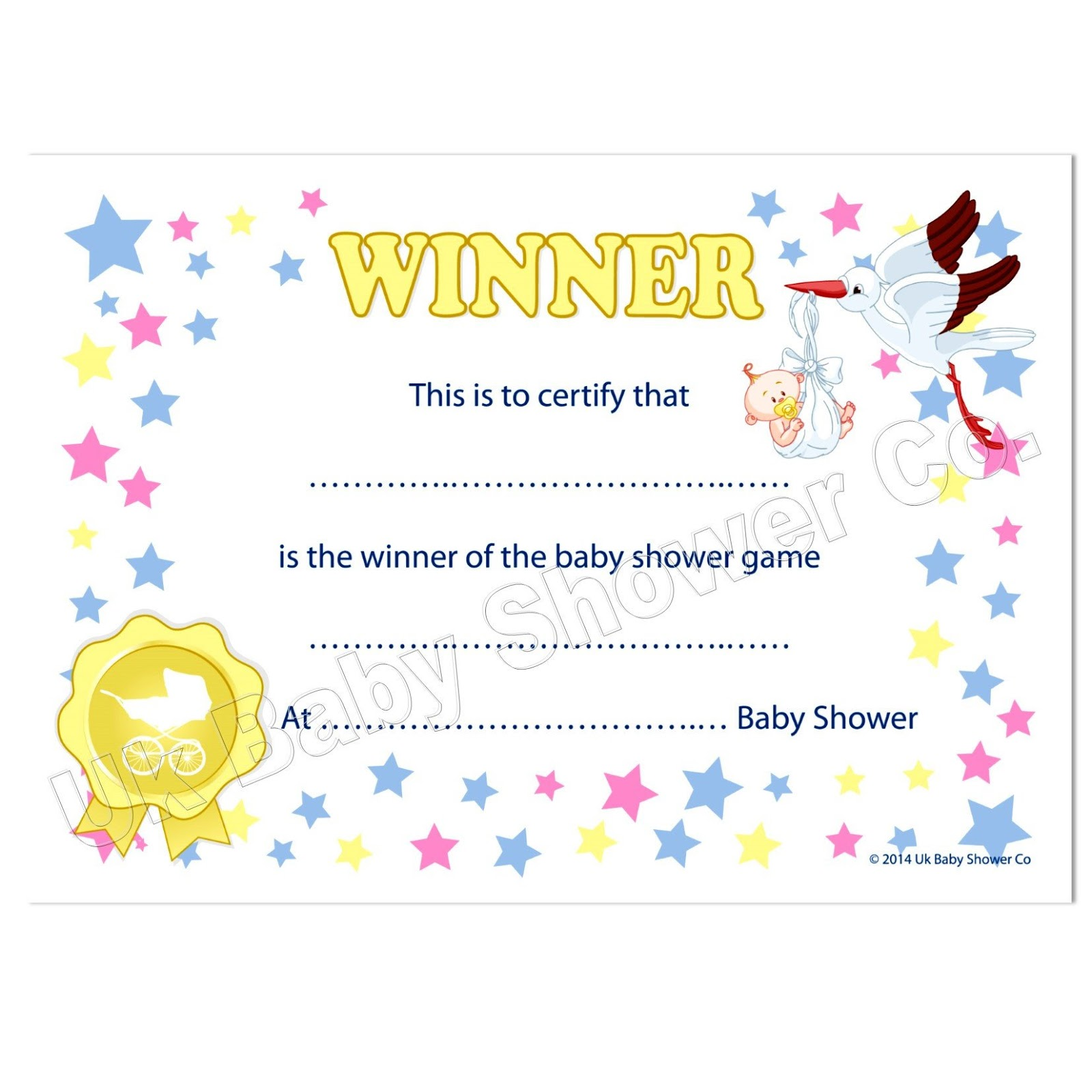 Printable Fill In Certificate  Certificate Winner
