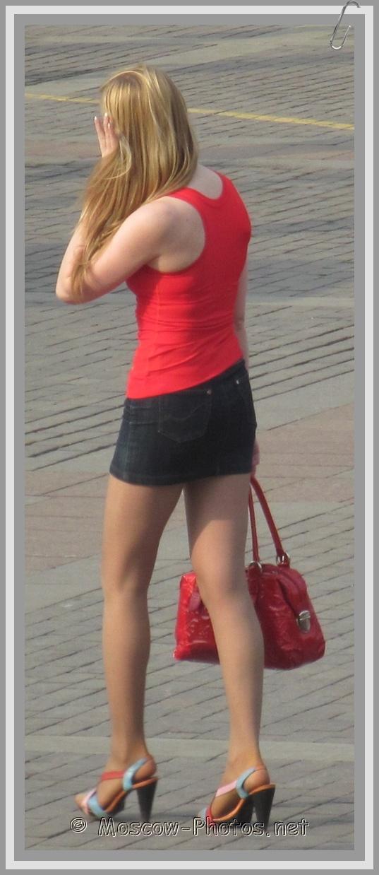 Moscow Mini Skirt Fashion Street Style