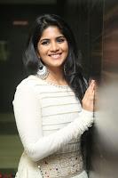Megha Akash in beautiful White Anarkali Dress at Pre release function of Movie LIE ~ Celebrities Galleries 062.JPG