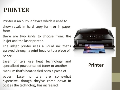 Is A Printer Input Or Output