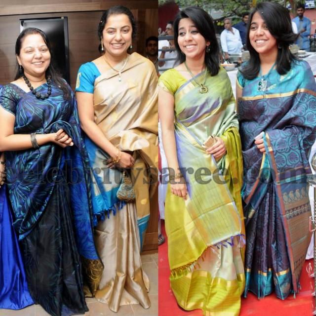 55613e9c7b81f South Indian Celebrities Silk Sarees - Saree Blouse Patterns
