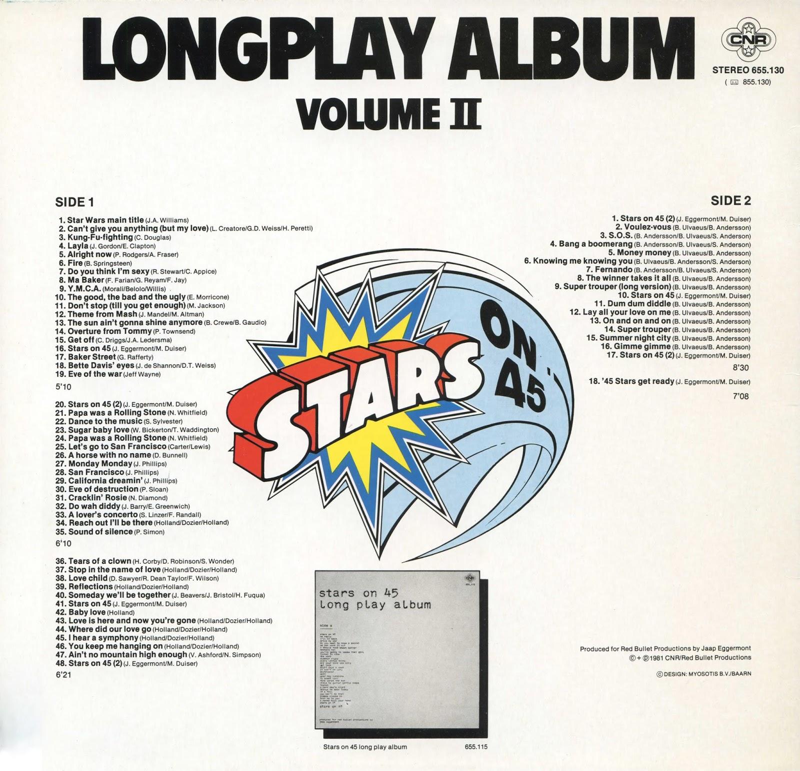 Music Rewind Stars On 45 Longplay Album Volume Ii
