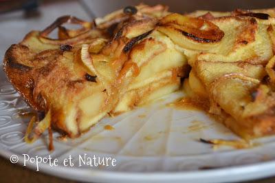 Brioche perdue aux pommes et caramel beurre salé © Popote et Nature