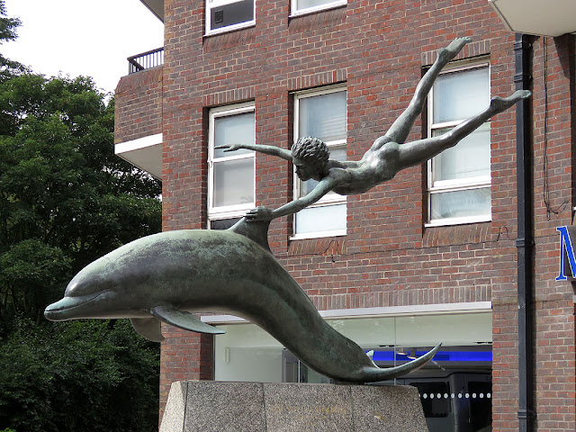 Boy with a Dolphin by David Wynne, Cheyne Walk, Oakley Street, Chelsea, London
