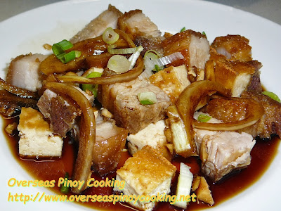 Crispy Tokwa't Baboy, Crspy Fried Pork with Tofu