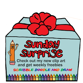 Sunday surprise new clip art and weekly freebies for teachers