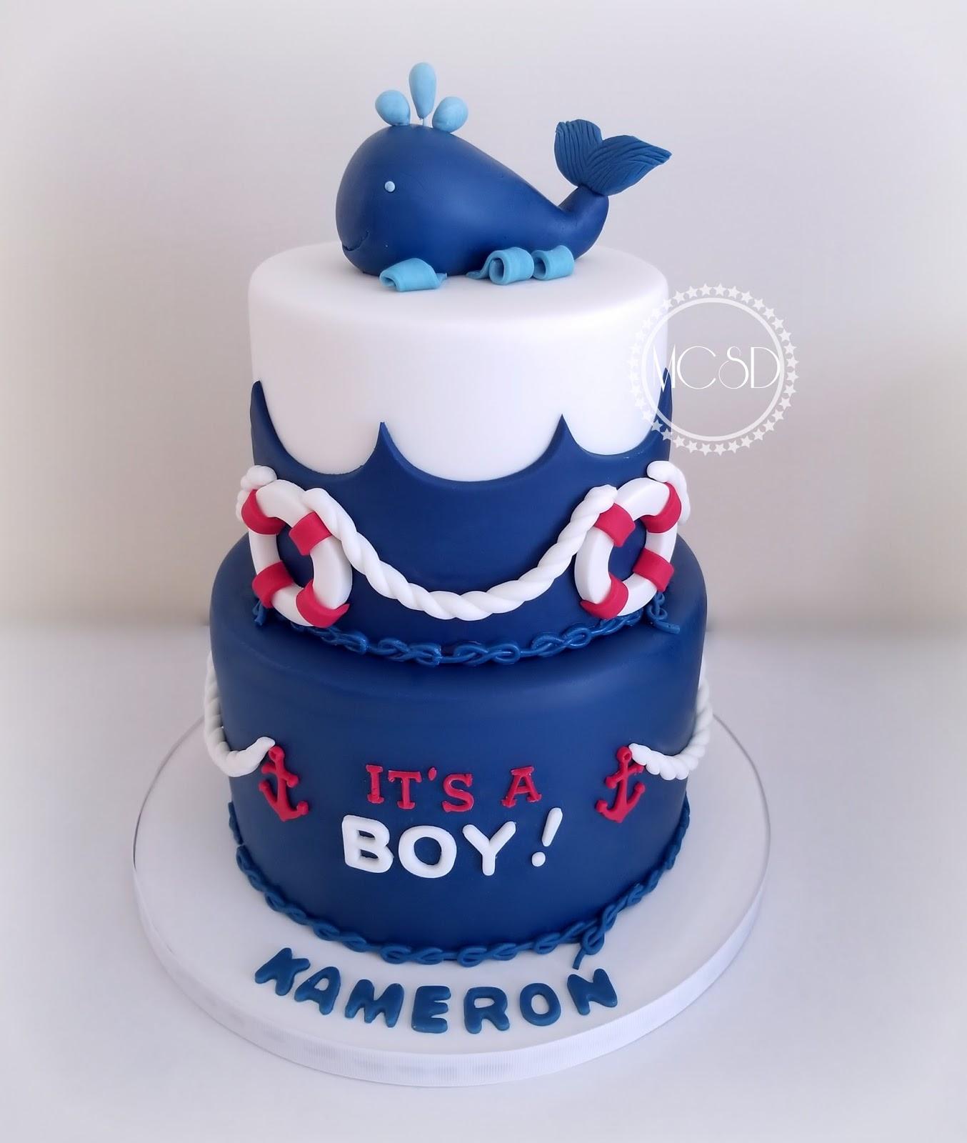 My Cake Sweet Dreams Nautical Baby Shower Cake