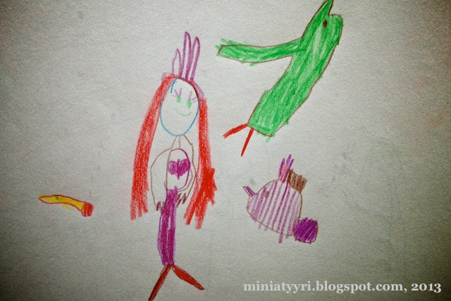 Merenneito ja kalat - Mermaid and fish