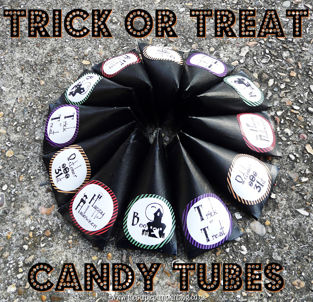 Trick or Treat Candy Tubes