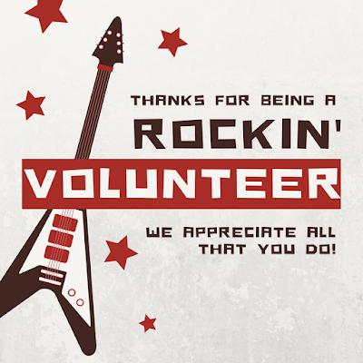 rock themed volunteer appreciation