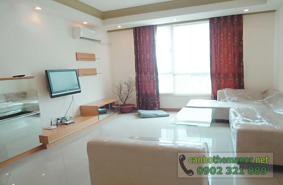 cho thuê căn hộ chung cư the manor quận bình thạnh - phòng khách