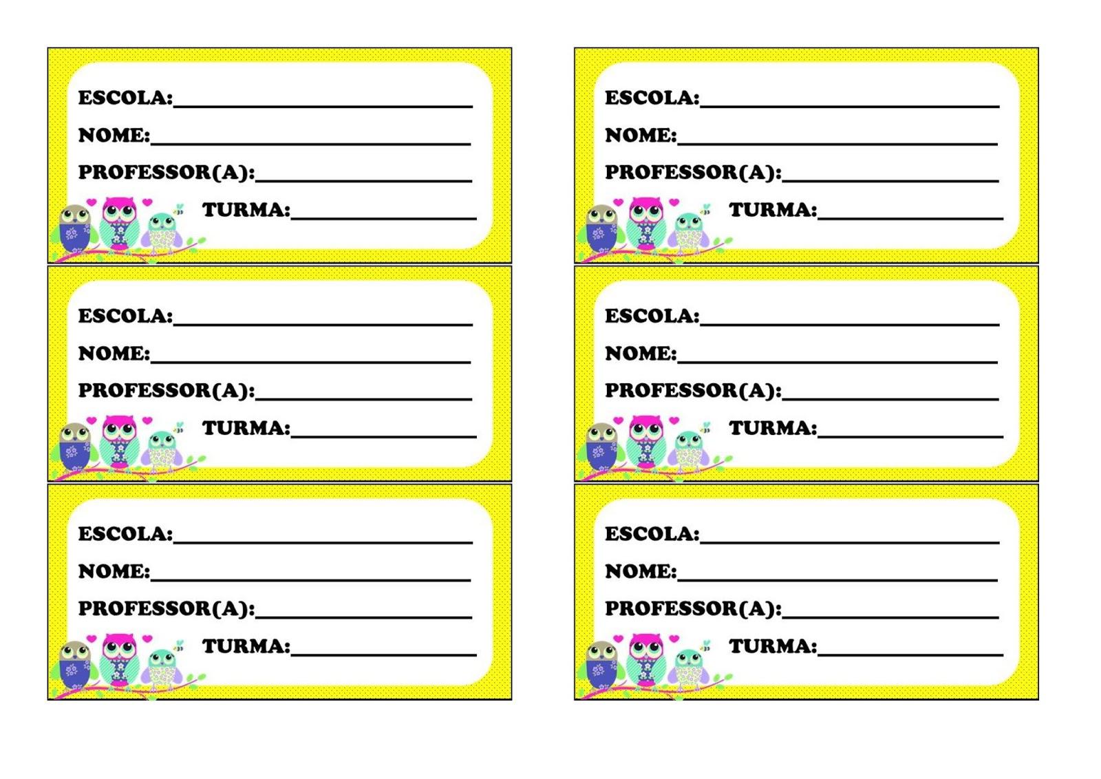 Modelo De Crachá Para Imprimir Corujinha Pedagoga Andréa Educa