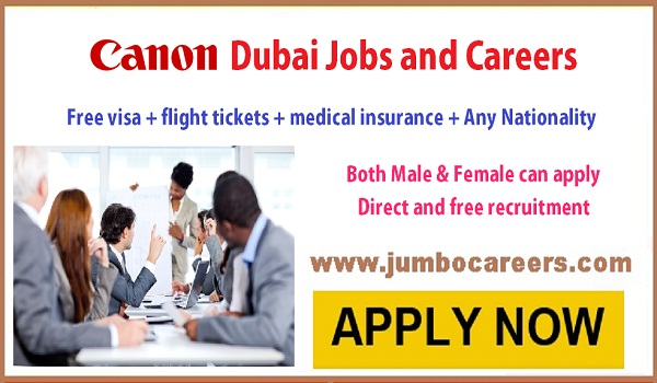 Jobs in Canon in Dubai, Latest sales jobs for Indians, in Dubai,