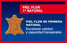 Piel flor 1ª natural - Excelente calidad y capacidad transpirable
