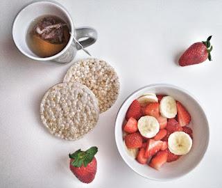 fraise, fruits, équilibré, cherry tea