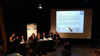 Javiera Olivares  debate  sobre situación de las comunicaciones durante visita  a   Argentina